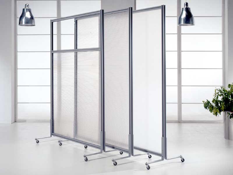 Linea macro pannelli divisori pareti mobili separ su for Pannelli divisori interni