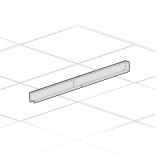 Canalina a soffitto - cm 100